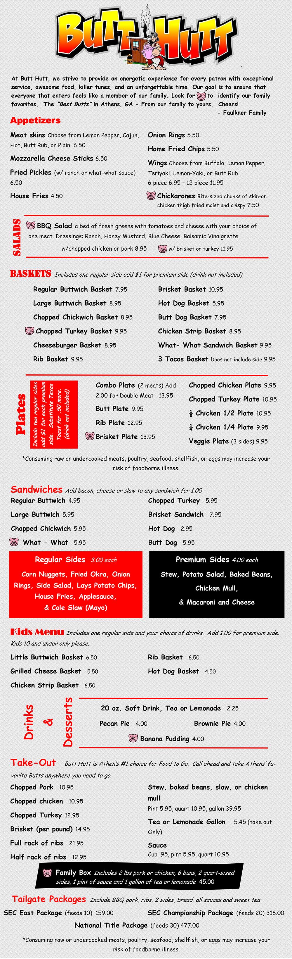 butt hutt menu